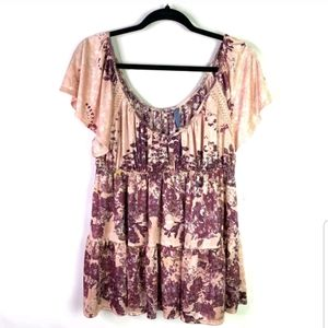 Free People womens top Size M Short sleeve